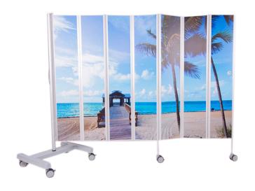 Bed  kamerscherm bedrukt 210 x 185 cm