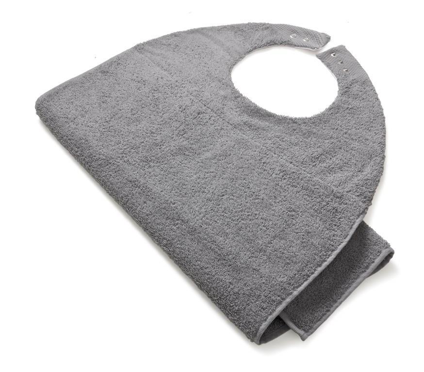 Slab volwassenen badstof grijs