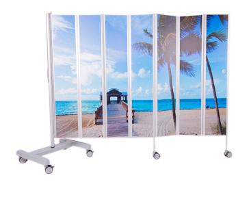 Bed  kamerscherm bedrukt 210 x 185 cm 2