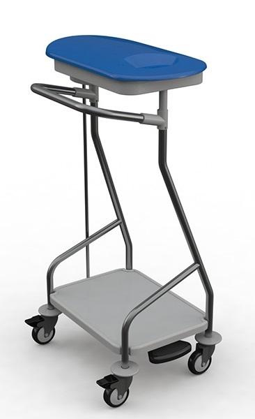 waszakkenwagen 1-delig incl. deksel, voetpedaal, bodemp